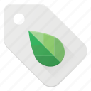 bio, discount, eco, green, tag icon