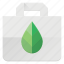 bag, eco, leaf, nature, recyle, shopping icon