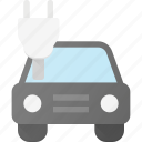car, concept, electric, plug icon