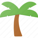 eco, green, island, nature, palm, plant, tree icon