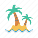 beach, nature, ocean, sea, tree icon