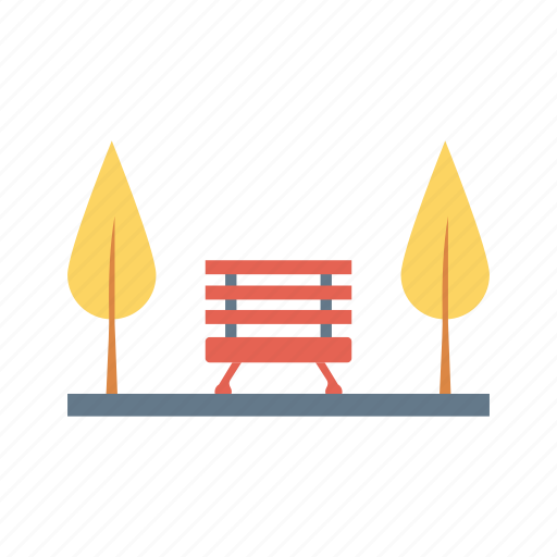 bench, garden, nature, park, trees icon