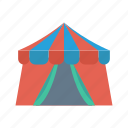 camping, circus, festival, shelter, tent icon