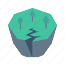 broken, forest, mountain, nature, tree icon