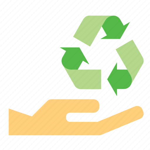 ecology, environmentalism, give, hand, recycle, recycling, sign icon