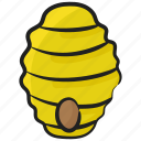 apiculture, bee nest, beehive, beehouse, beekeeping, hive, honeycomb icon
