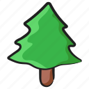 evergreen, forest, forestland, plantation, tree icon