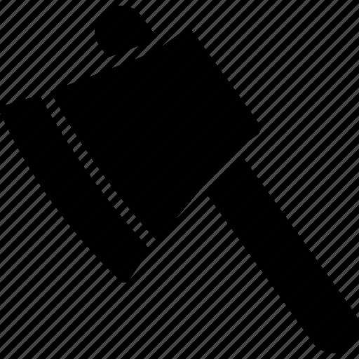 ax, axe, cutting, hand tool, lumber axe icon