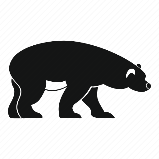 alaska, animal, bear, nature, walking, wild, wildlife icon