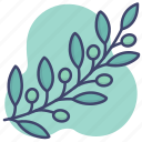 leaves, peace, olive, branch icon