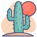 cactus, desert, plant, western icon