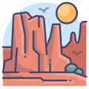 canyon, grand, landscape, plateau icon