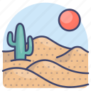 africa, desert, nature, sand icon