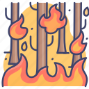 fire, flame, forest, wildfire icon