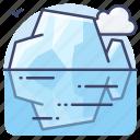 glacier, iceberg, landscape, polar