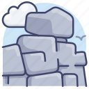 stone, rock, ridge, rocks icon