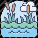 bog, nature, pond, swamp icon