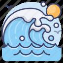 ocean, sea, tide, wave icon