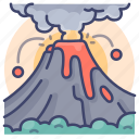 disaster, eruption, nature, volcano icon