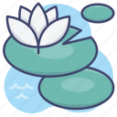 lily, lotus, pond, water icon