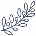 branch, leaves, olive, peace icon
