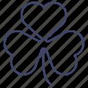 clover, leaf, leaves, three icon