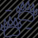 bear, footprint, footprints, trace icon