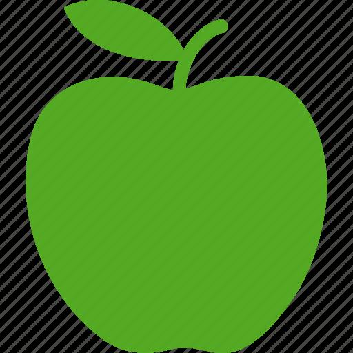 apple, big, delicious, education, fruit, green, health icon