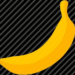 banana, food, fruit, musa, organic, plantain, yellow icon
