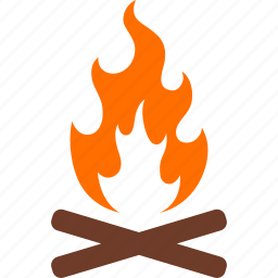 bonfire, camp, campfire, camping, color, fire, flame icon