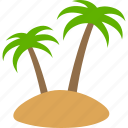 island, tree, trees, arecaceae, palm, small, isle