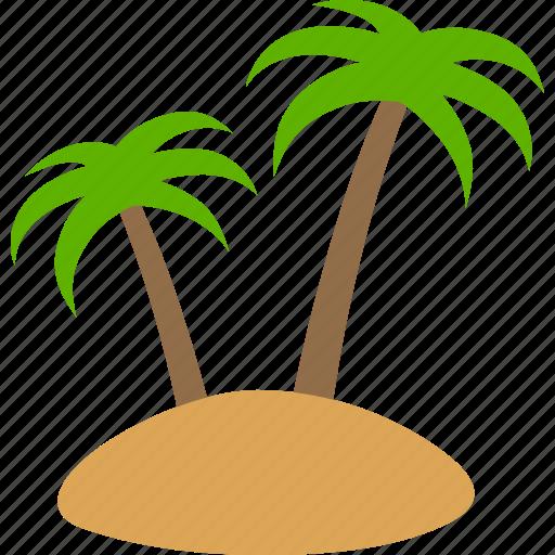 arecaceae, island, isle, palm, small, tree, trees icon