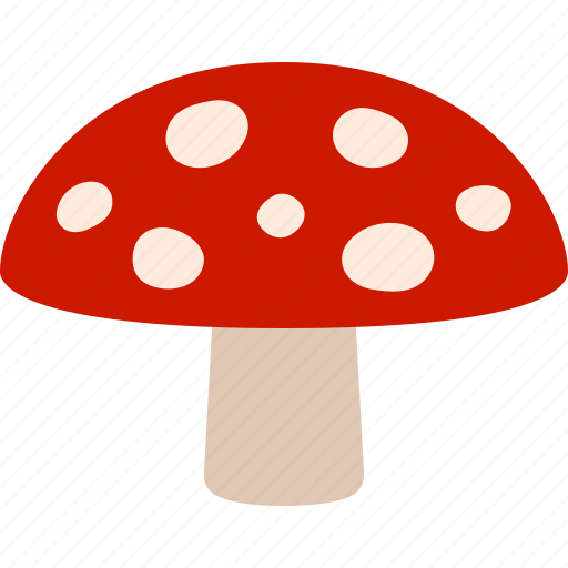 amanita, fungus, muscaria, mushroom, poisonous, red, toadstool icon