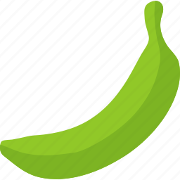 banana, cooking, food, fruit, green, organic, plantain icon