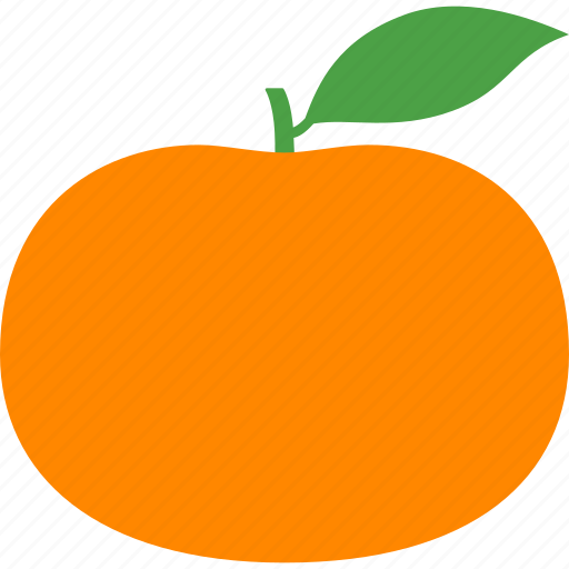 citrus, fruit, leaf, mandarin, mandarine, orange, tangerine icon