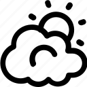 cloud, morning, sky, sun, sunrise icon
