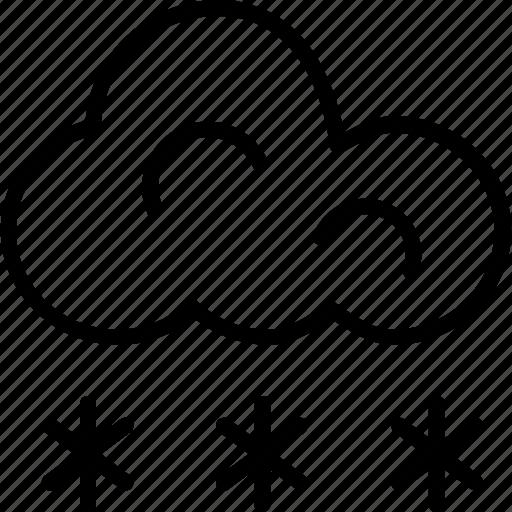 cloud, sky, snow falling, snowflake, winter icon