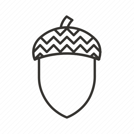 acorn, forest, nature, oak, seed, tree icon