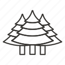 coniferous, forest, tree, trees icon