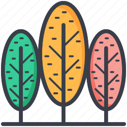 forest, jungle, park, poplar trees, trees icon