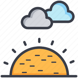 meteorology, sunny clouds, weather, weather forecast, weather update icon