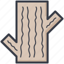 environment, log, tree trunk, trunk, wooden log icon