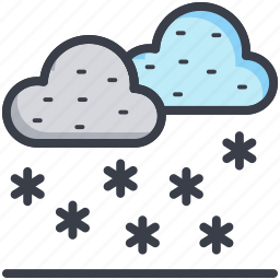 cloud, forecast, snowfall, weather, winters icon