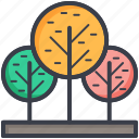 ecology, greenery, nature, shrubbery, trees icon