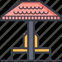garden, gazebo, park pavilion, pergola, public park icon