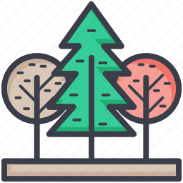 forest, greenery, landscape, nature, trees icon