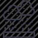 raining, atmosphere, rain, weather, raindrops, cloud
