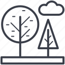 cloud, nature, park, sky, trees icon