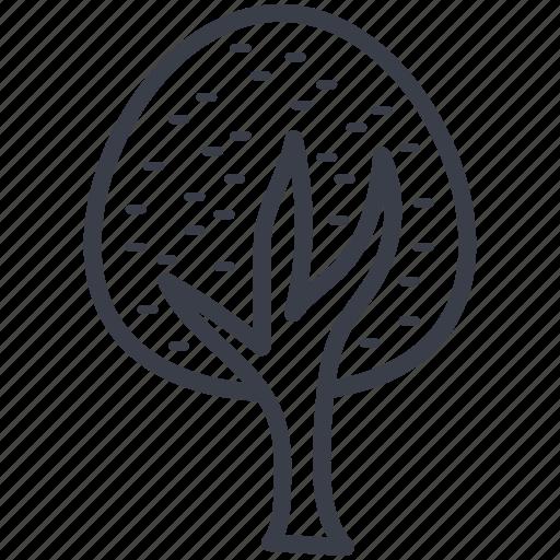 greenery, nature, oak tree, park, shrub tree icon