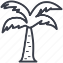 coconut trees, date trees, island, palm trees, tropical tree icon
